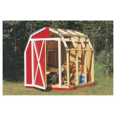 Quick Framer Universal Storage Shed Framing Kit — Gambrel Roof use the braces for roofing and over hangs...