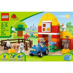 LEGO DUPLO My First Farm. My 2 year old keeps screaming tractor while we look at this. Lol! #LegoDuploParty