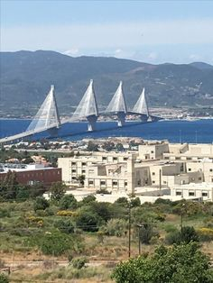 Άποψη πανεπιστημιακού νοσοκομείου και γέφυρας Ρίου-Αντιρρίου, Πάτρας-Greece (KT) φωτό (ΚΤ)