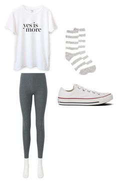 """♥ Cute, White Outfit ♥"" by httpemmy on Polyvore featuring Uniqlo, New Directions, Converse and Sincerely, Jules"