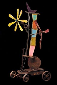HADDAWAY - CHILD`S FLIGHT - PAINTED STEEL - 90 X 54 X 48 INCHES