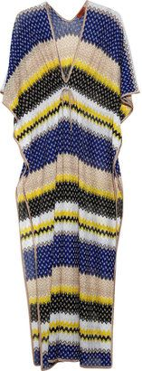 ShopStyle: Missoni Postumia metallic crochet-knit maxi kaftan