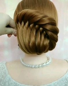 Bun Hairstyles For Long Hair, Braids For Long Hair, Braided Hairstyles, Braids For Girls, Hair Updo, Braided Updo, Summer Hairstyles, Front Hair Styles, Medium Hair Styles