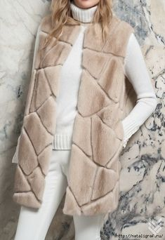 4045361_norka_s_zamshevimi_vstavkami (444x645, 172Kb) Vest Coat, Fur Jacket, Fur Coat Fashion, Winter Outfits Women, Street Outfit, African Wear, Classic Outfits, Korean Outfits, Dresses For Teens