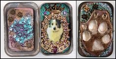 BrandeeBlank.com   Fuji's Shrine   Project made for the 2016 Polymer Clay Adventure following Laurie Mika's tutorial.  Mixed media on altoid tin.