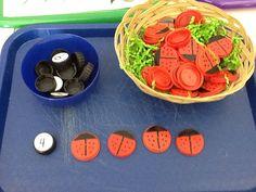 ladybug numeral bottle cap game 2-Uphaus ECE Center