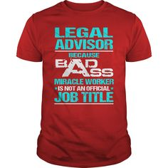Awesome Tee For Legal Advisor T-Shirts, Hoodies. BUY IT NOW ==► https://www.sunfrog.com/LifeStyle/Awesome-Tee-For-Legal-Advisor-108649512-Red-Guys.html?id=41382