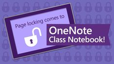 Page Locking has been one of the top-requested features of the past 3 years, and today we're excited to announce that it's finally rolling out to #OneNote Class Notebook add-in! http://msft.social/6GWVCG #InfoNetTrain #Microsoft #Education #Features #edtech #MIEExpert #OneNOte