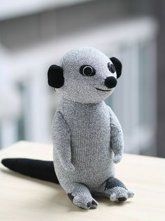 Handmade Sock Meerkat toy, This cute Meerkat is looking for a new home! Thank you for visiting our shop . All my doll are handmade by myself. Comes from a smoke free home.