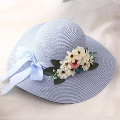 Item Type: Sun Hats Model Number: hats for women Gender: Women Material: Straw Department Name: Adult Pattern Type: Floral Style: Casual size : Baby Cardigan Knitting Pattern, Hat Crafts, Diy Hat, Cute Hats, Summer Hats, Girl With Hat, Hats For Women, Weaving, Crochet Hats