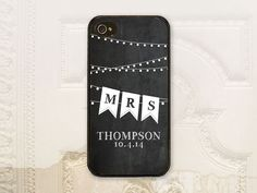Bride Chalkboard phone case  iPhone 4 4s 5 5s 5c 6 6+ plus Samsung Galaxy s3 s4 s5 case Bride phone case Mrs Bunting  B4072 by LilStinkerDesign on Etsy https://www.etsy.com/listing/167646861/bride-chalkboard-phone-case-iphone-4-4s