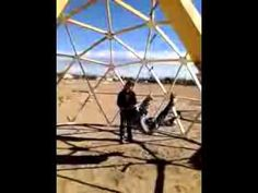 """Hansel & Gretel"" in a Dome - Starring Karen and Frank Geodesic Dome Kit, Geodesic Dome Greenhouse, Diy Greenhouse, Great Buildings And Structures, Modern Buildings, Modern Greenhouses, Shed To Tiny House, Geometric Sculpture, Dubai Skyscraper"