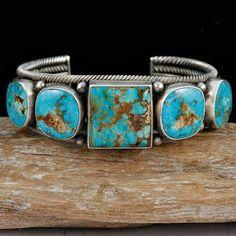 LRG-Aaron-Toadlena-Turquoise-Pueblo-Bracelet-Sterling-Silver-Native-American-/310764922796?