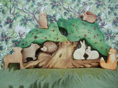 Waldorf wooden toys Forest Tree House 9 Pc Set by WaldorfWoodToys, $79.00