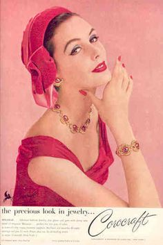 I love Coro jewelry so much. This vintage ad is from 1957.