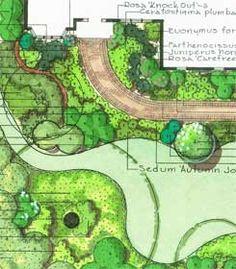 landscape design drawing - Google Search