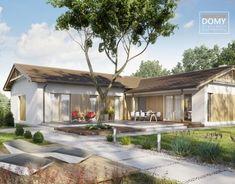 Projekt Ponza | Słoneczne Domy House Blueprints, Small House Plans, How To Plan, Outdoor Decor, Design, Home Decor, Dreams, Country Houses, Home Plans