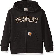 Carhartt Little Boys' Long Sleeve Sweatshirt, Full Zip Bl...
