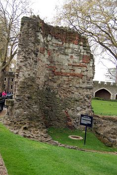 Ruins of the Roman wall inside the Tower of London