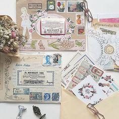 Beautiful incoming mails from lovely penpals. Thank you @barbarasalastudio @fayadreamland @hennytjcraftcottage #incomingmails #mailboxparty #happymailday #mailart #penpals #snailmails