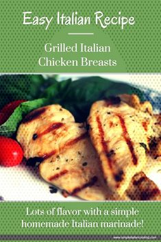 Grilled Italian Chicken Breasts - Italian Chicken Recipes- G. - Grilled Italian Chicken Breasts You can find Italian chicken breast and . Grilled Italian Chicken, Italian Chicken Breast, Italian Chicken Recipes, Chicken Breasts, Grilling, Homemade, Easy, Food, Crickets
