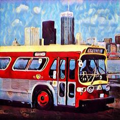 Hey Toronto tomorrow I will be all up in your grill selling my artwork at the Regent Park mews! Come laugh at my feeble attempts to stay standing all day after a week spent inside due to rain! #ig #instagood #instagram #ttc #yyz #toronto #torontolife #torontoart #toronto_insta #bus #filter #sky #vintage #prisma #the6ix #thesix #blue #art #artist #etsy #etsyshop