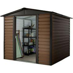 """£312    YardMaster 7' 5"""" x 6' 1"""" Woodgrain Shiplap Metal Garden Shed - Cheap Sheds - Sheds"""