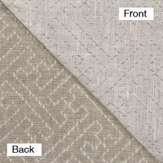 """$19/yd IL002 IVORY-NATURAL TETRA - 100% Linen - Canvas Weight (10 oz/yd2) Jacquard Linen w/ stitching (looks puckered once it's washed) great for throws, duvet, blankets, jackets, bottom weights. 63""""w (shrinks to about 50""""wide once washed/dried)"""
