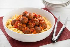 Brett's Meatballs with Tomato Fettuccine