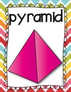 Shape Posters {Freebie} by Traci Bender - The Bender Bunch Kindergarten Anchor Charts, Kindergarten Math, Shape Anchor Chart, Math Figures, 1st Grade Math, Grade 1, 3 Dimensional Shapes, Math Classroom, Maths