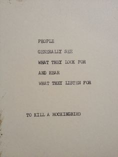 TO KILL A MOCKINGBIRD: Typewriter quote on 5x7 by WritersWire