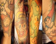 Arale, Suppaman and Butters...not so much the care bear...