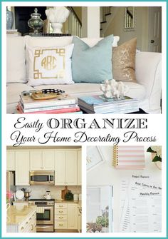 Ways to easily organize and make progress in decorating your entire home. {with a free home decor planner printable}