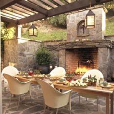 Rustic, romantic fireplace