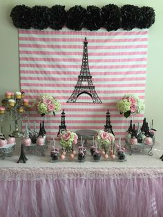 French / Parisian Baby Shower Party Ideas | Photo 1 of 6