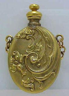 perfume bottle Art Nouveau, Art Deco, Faberge Jewelry, Antique Perfume Bottles, Beautiful Perfume, Bottle Crafts, Antiques, Museum, Gold
