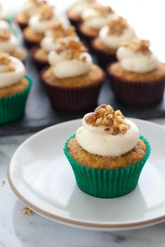 Gluten-free Carrot Cupcakes with Honey Cream Cheese Frosting