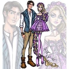 'Disney Darling Couples' by Hayden Williams: Rapunzel & Flynn Rider #Disney #Tangled