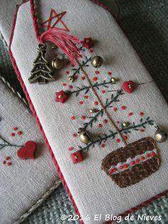 El Blog de Nieves. Labores y Punto de cruz: Adornos de Navidad II
