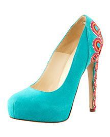 Brian Atwood Embroidered-Heel Pump    2114.00