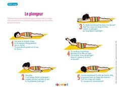 Petit yoga de pomme d'api : le plongeur