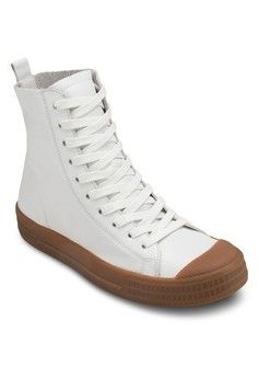 Titan Hi Top Trainers from TOPSHOP in white_1
