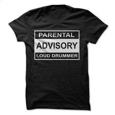 Parental Advisory Loud Drummer - #tshirt illustration #mens sweater. PURCHASE NOW => https://www.sunfrog.com/Music/Parental-Advisory-Loud-Drummer-Black.html?68278