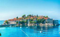 Herunterladen hintergrundbild budva, sommer, bucht, boote, adria, küste, montenegro