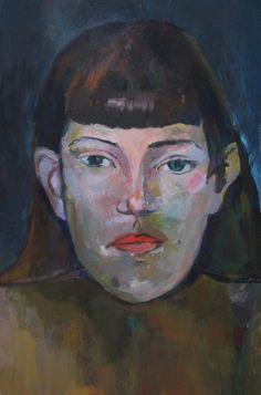 Gauguin study, December 2014, Acrylic on masonite
