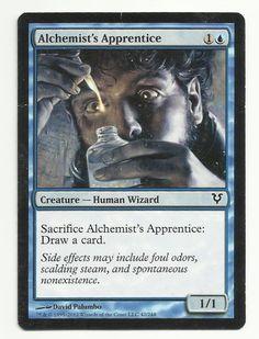 Alchemist's Apprentice x1 MTG Avacyn Restored Blue Human Creature Magic Card EDH #WizardsoftheCoast