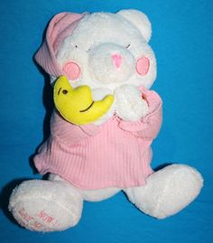 "Goffa Int Bear Now I Lay Me Down To Sleep pink pjs hat plush prays prayer 12"" #GoffaInternational"