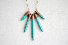 Turquoise Dagger Earrings - Christmas Gifts Under 25 - Handmade Jewelry - Free Shipping in the US. $22.00, via Etsy.