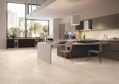 Petra collection by #emilceramica  #emilgroup #tiles #ceramics #floortiles #interiordesign #madeinitaly #architecture #style #stoneeffect #concreteeffect #kitchen #home #contemporary