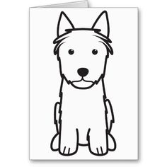 Silky Terrier Dog Cartoon Greeting Cards
